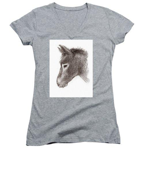 Portrait Of A Mule Women's V-Neck