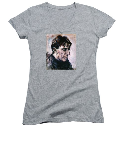 Portrait Of John Cale Women's V-Neck