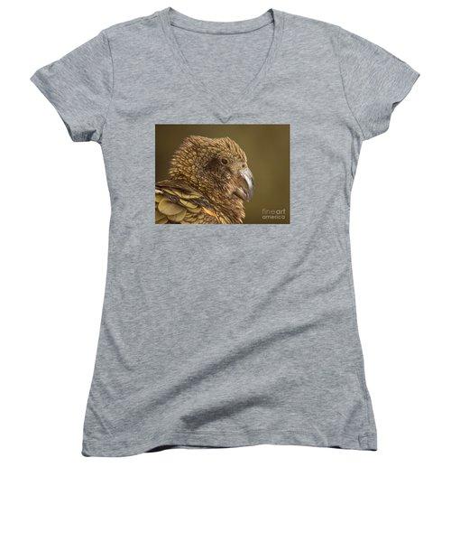 Portrait Of Kea Calling Women's V-Neck T-Shirt