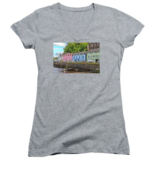 Portree Town On Skye, Scotland Women's V-Neck (Athletic Fit)