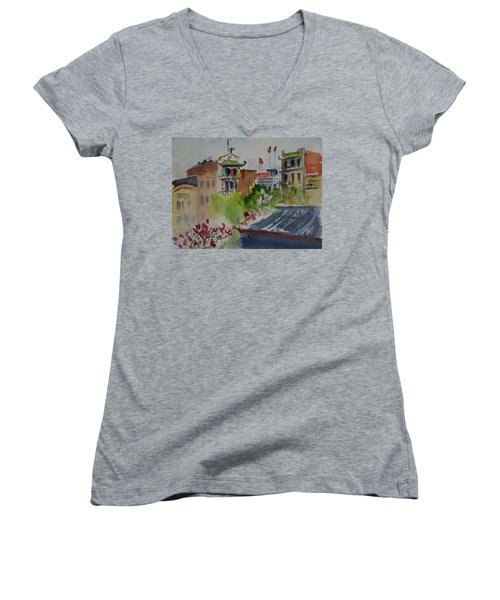 Portsmouth Square1 Women's V-Neck T-Shirt
