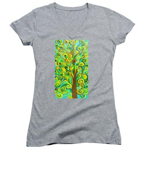 Positronic Spirit Tree Women's V-Neck