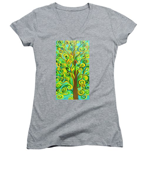 Positronic Spirit Tree Women's V-Neck