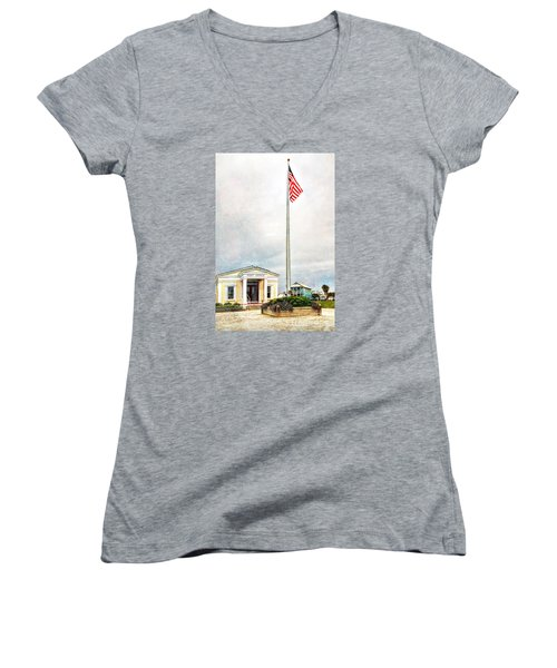 Post Office In Seaside Florida Women's V-Neck T-Shirt