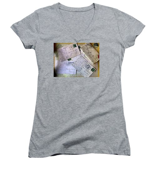 Postcards And Proposals Women's V-Neck