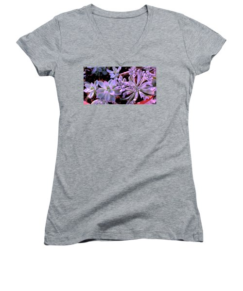 Pot Mates Women's V-Neck T-Shirt (Junior Cut) by M Diane Bonaparte