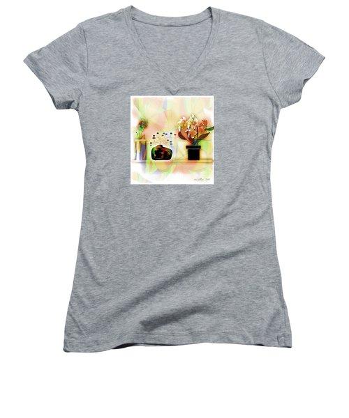 Potted Women's V-Neck T-Shirt