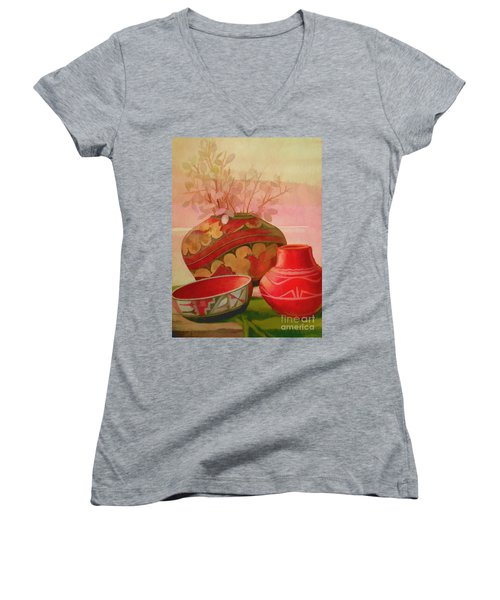 Pottery Women's V-Neck T-Shirt