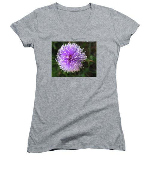 Purple Orb Women's V-Neck T-Shirt
