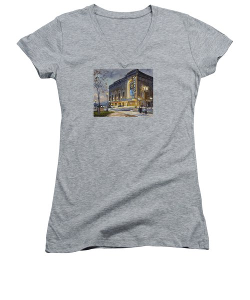 Powell Symphony Hall In Saint Louis Women's V-Neck (Athletic Fit)