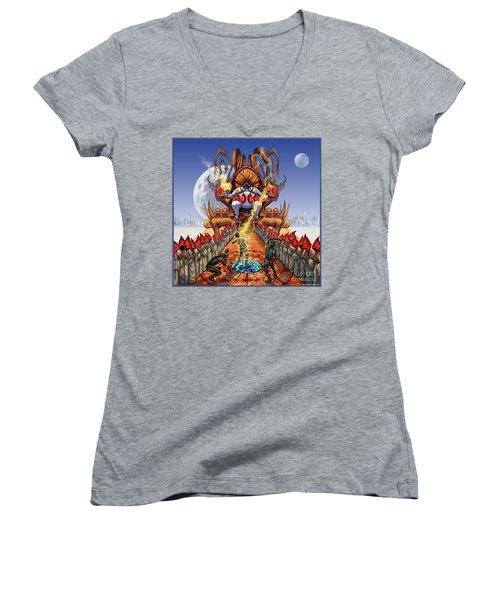 Powerless To Power Women's V-Neck T-Shirt (Junior Cut) by Tony Koehl