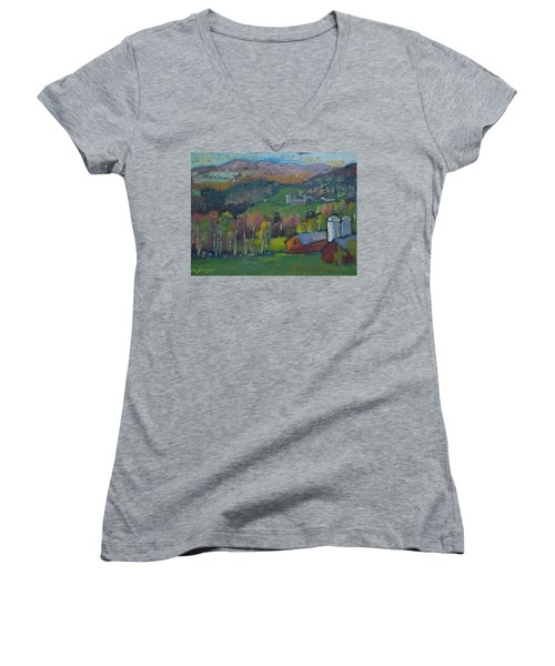 Pownel Vt Women's V-Neck T-Shirt
