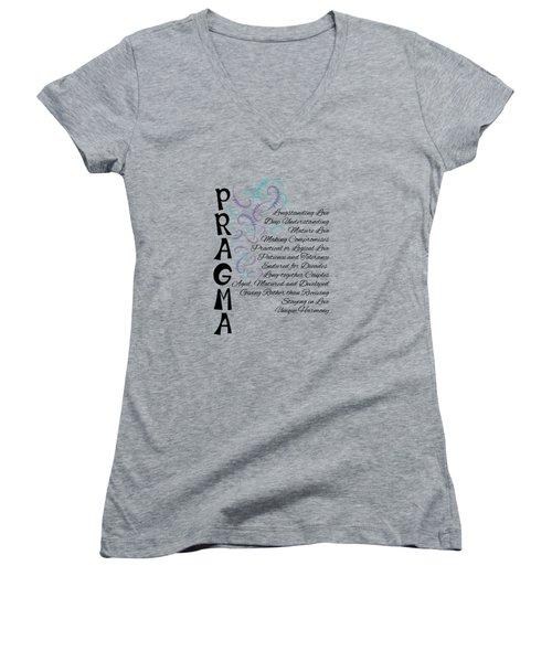 Pragma- Longstanding Love Women's V-Neck T-Shirt