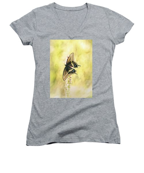 Prairie Butterfly 2 Women's V-Neck