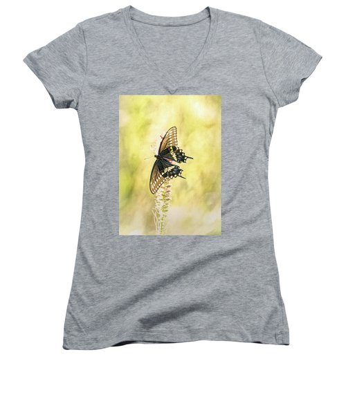 Prairie Butterfly 2 Women's V-Neck (Athletic Fit)