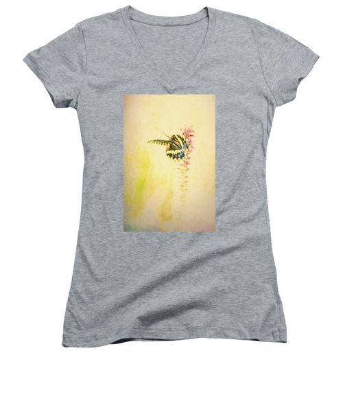 Prairie Butterfly 3 Women's V-Neck (Athletic Fit)