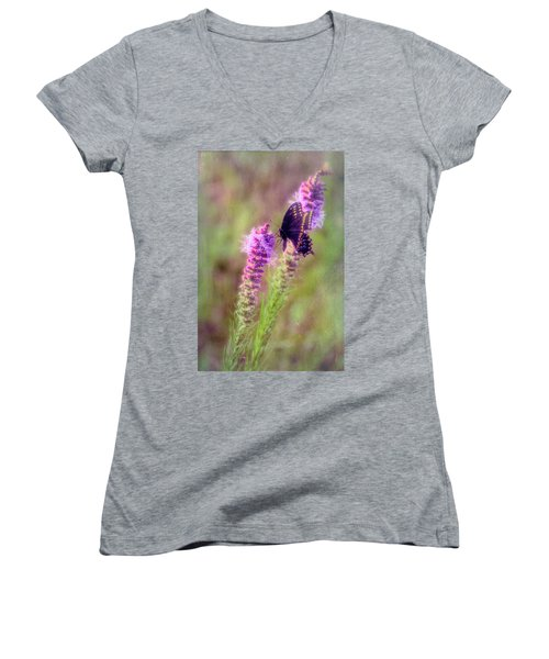 Prairie Butterfly Women's V-Neck (Athletic Fit)