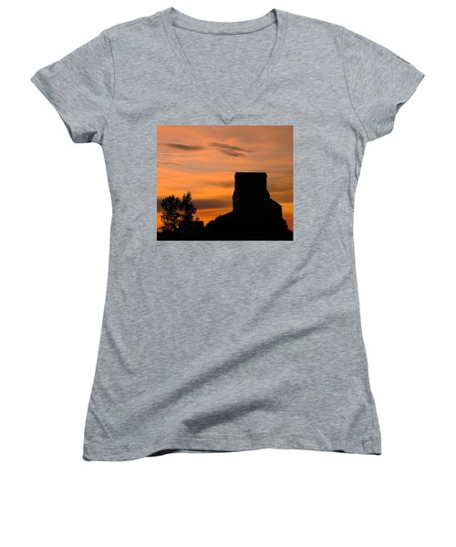Prairie Dusk Women's V-Neck T-Shirt