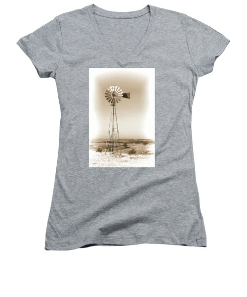 Prairie Guardian Women's V-Neck T-Shirt