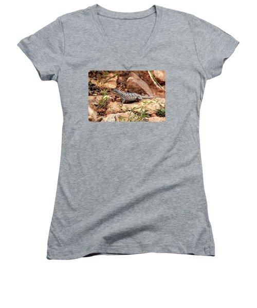 Prairie Lizard Women's V-Neck (Athletic Fit)