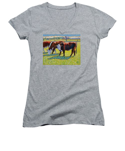 Prairie Lunch Women's V-Neck (Athletic Fit)