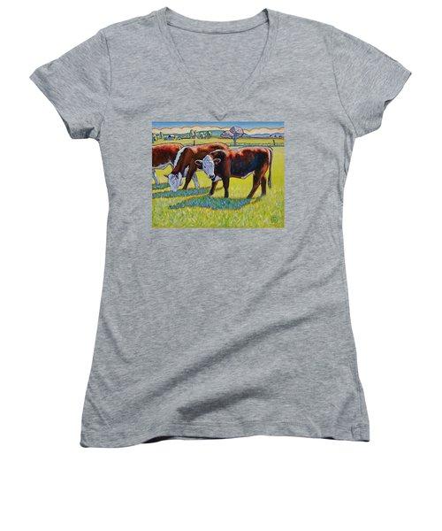 Prairie Lunch Women's V-Neck T-Shirt