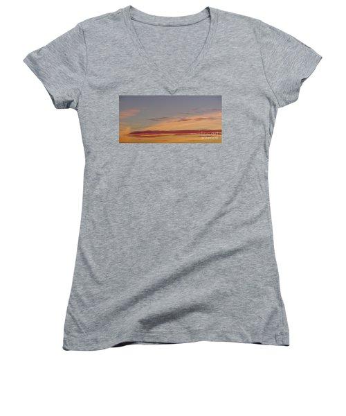 Prairie Sunset 2 Women's V-Neck