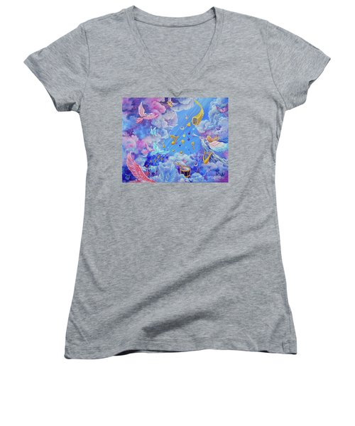 Praise Him From The Heavens Women's V-Neck