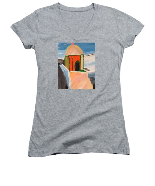 Prayer Hut Women's V-Neck (Athletic Fit)