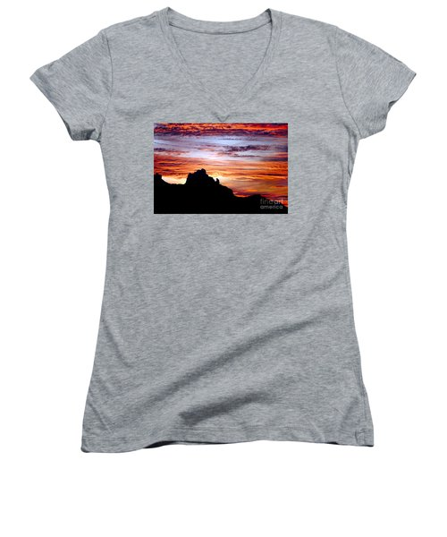 Praying Monk, Camelback Mountain, Phoenix Arizona Women's V-Neck (Athletic Fit)
