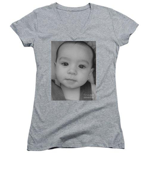Precious Moment Women's V-Neck T-Shirt (Junior Cut) by WaLdEmAr BoRrErO