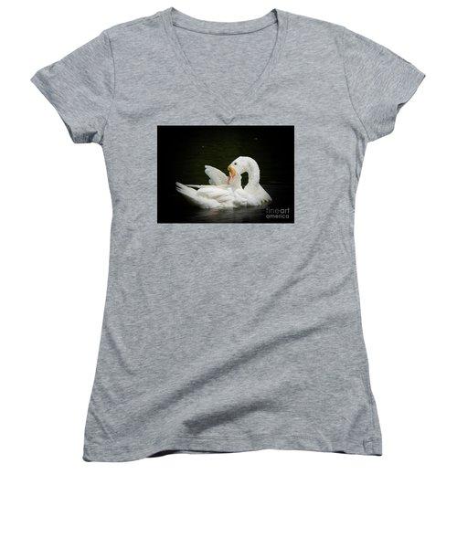 Preening Women's V-Neck T-Shirt