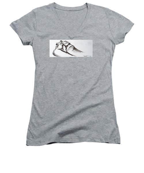 Preening Women's V-Neck (Athletic Fit)