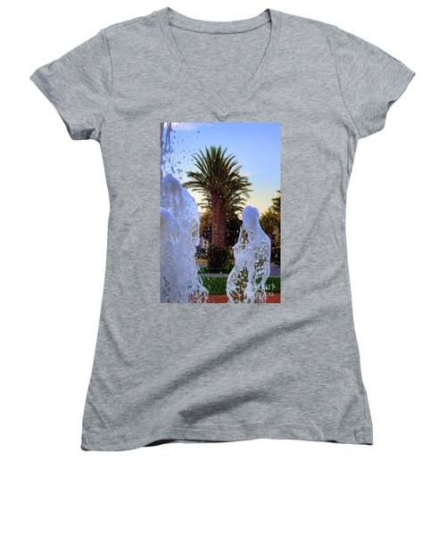 Women's V-Neck T-Shirt (Junior Cut) featuring the photograph Pregnant Water Fairy by Mariola Bitner