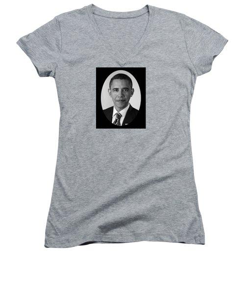 President Barack Obama Women's V-Neck T-Shirt