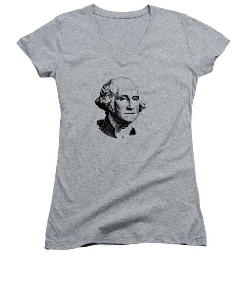 President Washington Women's V-Neck (Athletic Fit)