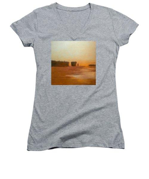 Preston After Spring Rain Creek Flood Women's V-Neck T-Shirt