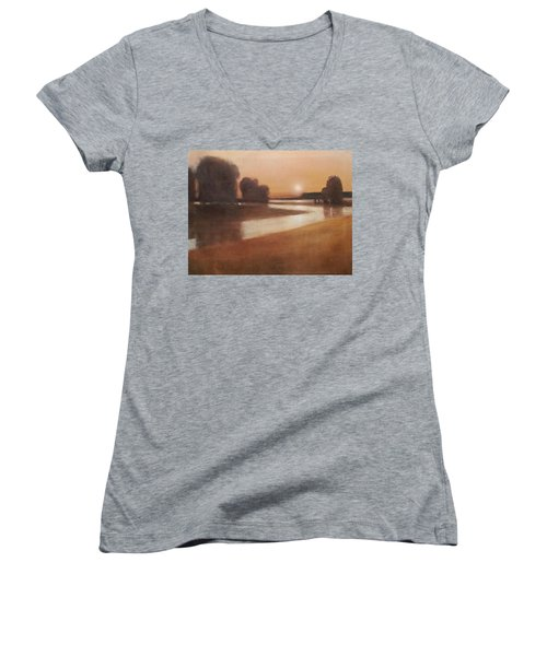 Preston Creek Flood Women's V-Neck T-Shirt