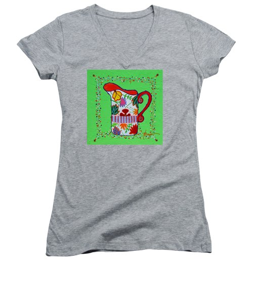 Pretty As A Pitcher Women's V-Neck (Athletic Fit)