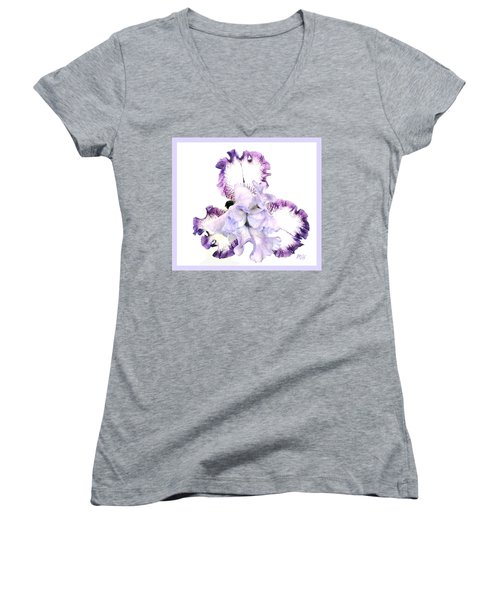 Pretty Baby Iris Women's V-Neck T-Shirt (Junior Cut) by Marsha Heiken