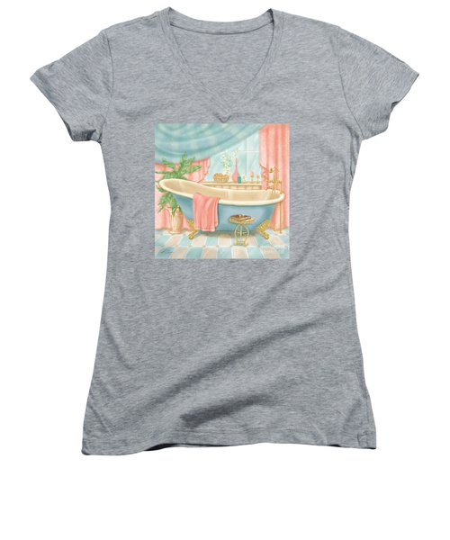 Pretty Bathrooms I Women's V-Neck (Athletic Fit)