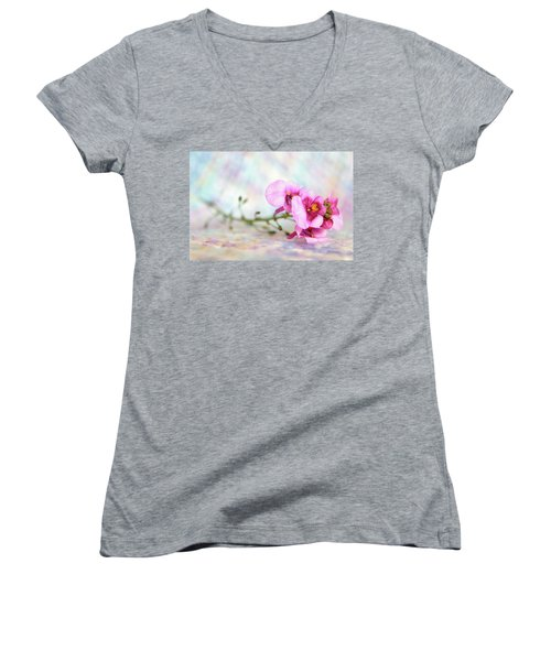 Pretty In Pink Women's V-Neck (Athletic Fit)