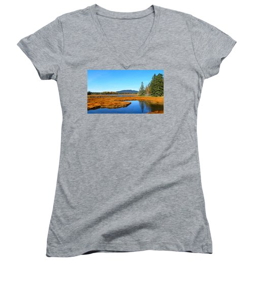 Pretty Marsh Women's V-Neck T-Shirt
