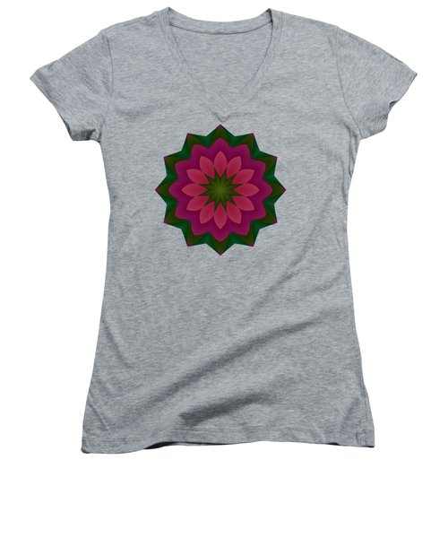 Pretty Pink Petals Women's V-Neck