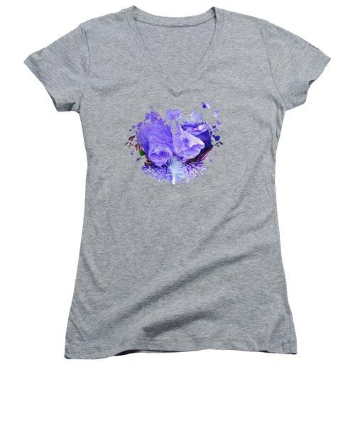 Pretty Purple Women's V-Neck (Athletic Fit)