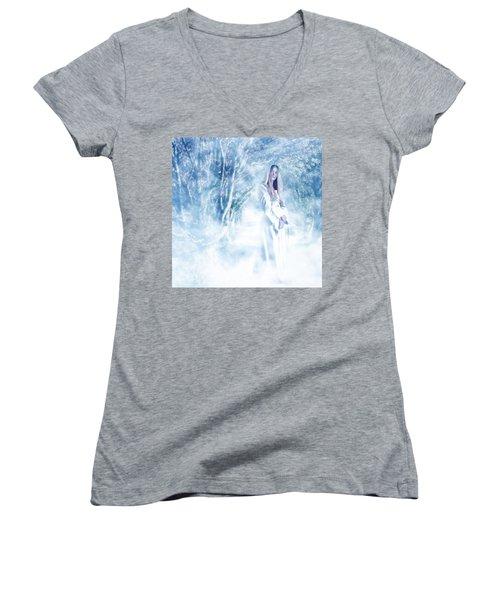 Priestess Women's V-Neck T-Shirt (Junior Cut) by John Edwards