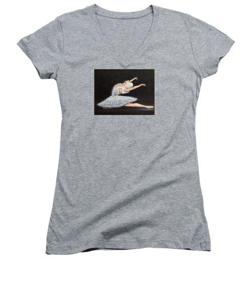 Prima Ballerina Women's V-Neck T-Shirt
