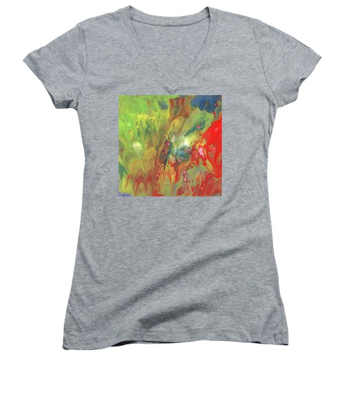 Primary Party Women's V-Neck T-Shirt