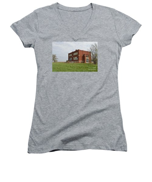 Primrose Nebraska School Women's V-Neck T-Shirt (Junior Cut) by Renie Rutten