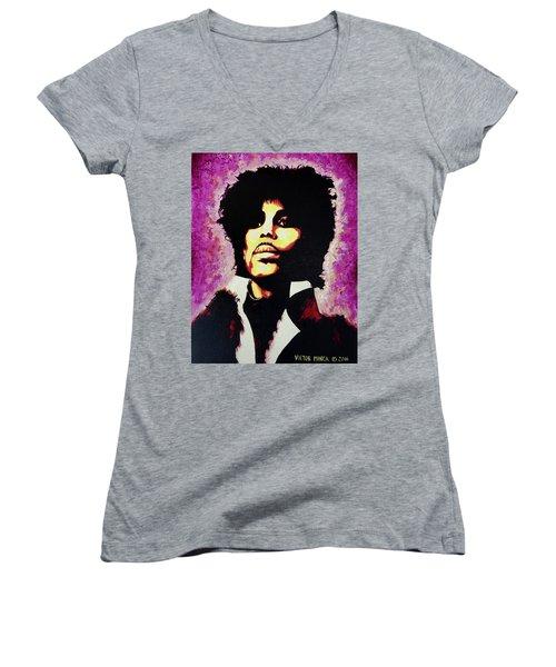 Prince Women's V-Neck T-Shirt (Junior Cut) by Victor Minca